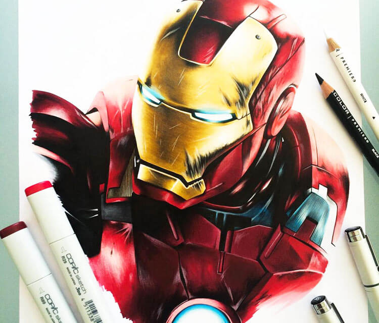 Iron Man drawing by Stephen Ward