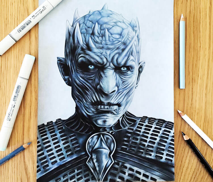 Night King drawing by Stephen Ward