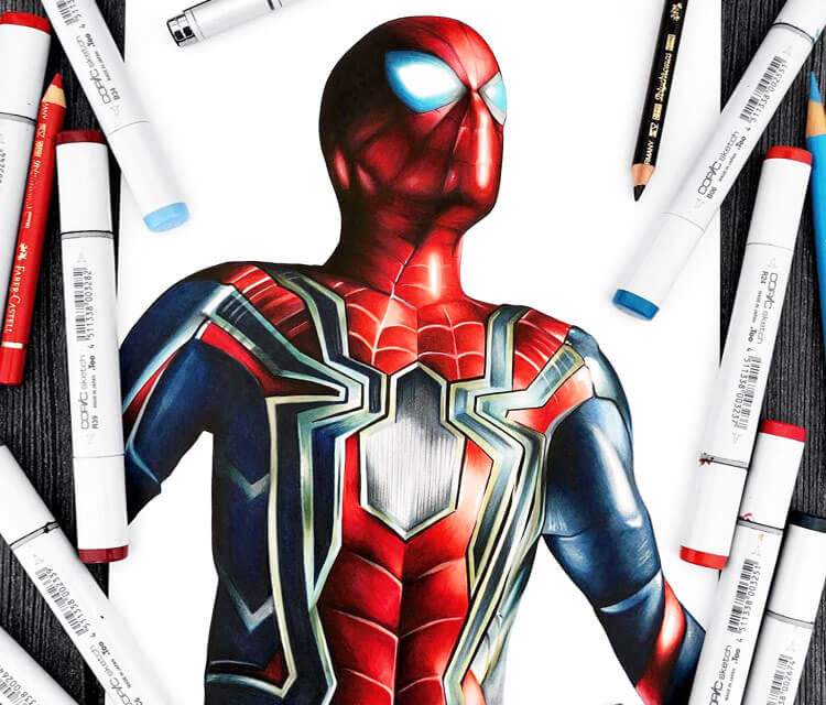 Spiderman drawing by Stephen Ward