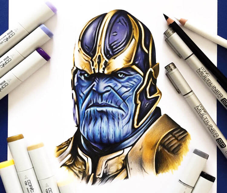 Thanos marker drawing by Stephen Ward