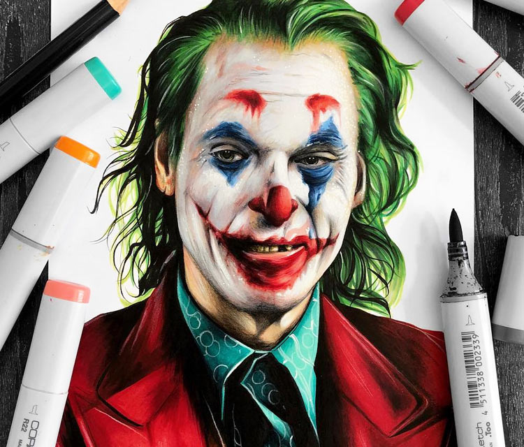 The Joker pencil drawing by Stephen Ward