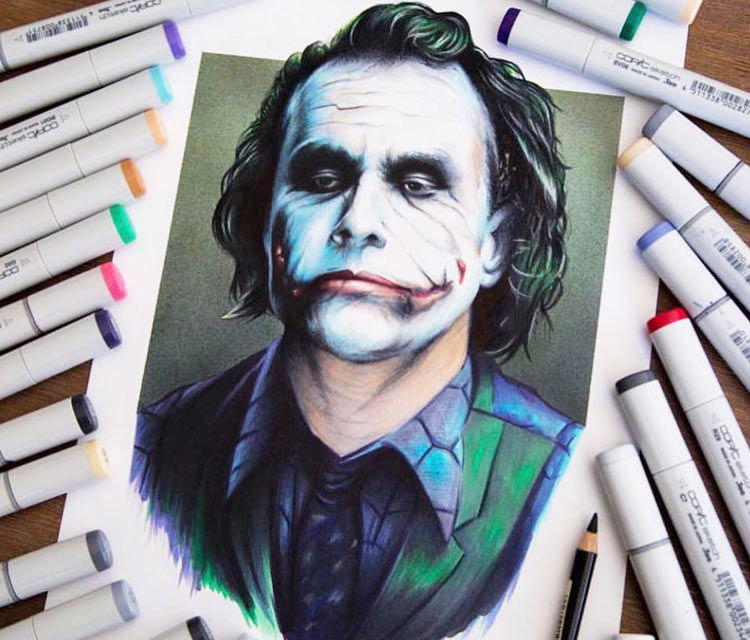 The Joker drawing by Stephen Ward