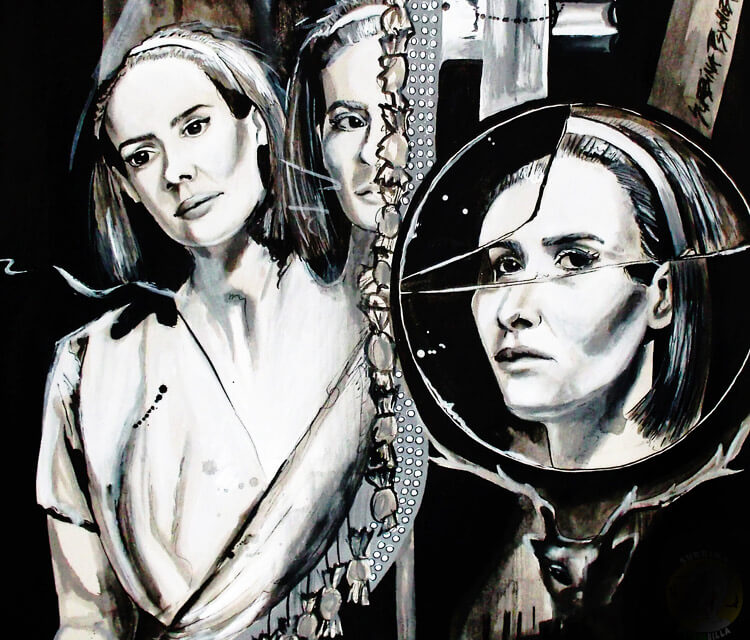 Dot and bet painting by Surbina Psychobilla