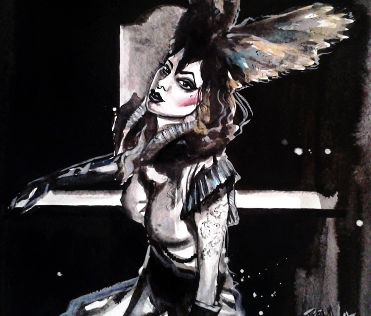 Fetish queen painting by Surbina Psychobilla