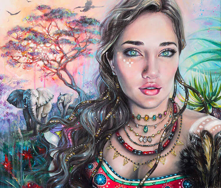Africa acryl painting by Tanya Shatseva
