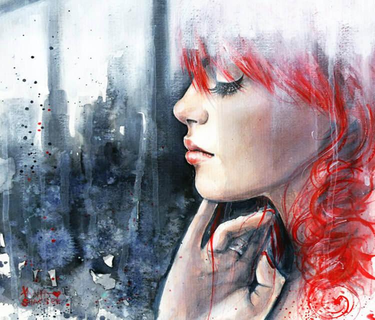 Behind painting by Tanya Shatseva