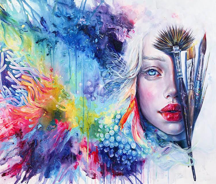 Coralized acryl painting by Tanya Shatseva