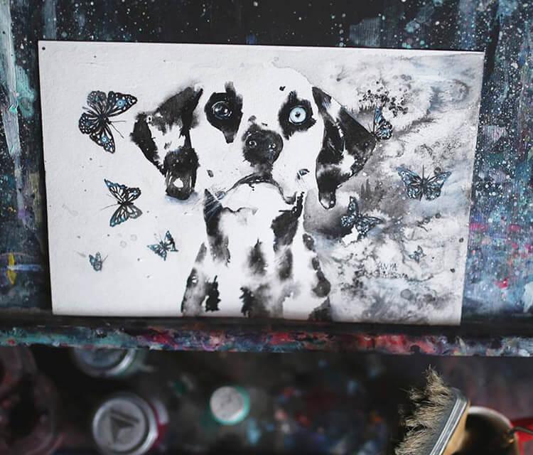 Dalmatian painting by Tanya Shatseva