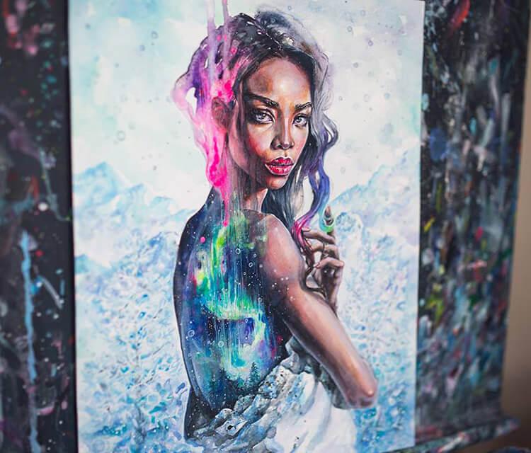 Northern Lights painting by Tanya Shatseva