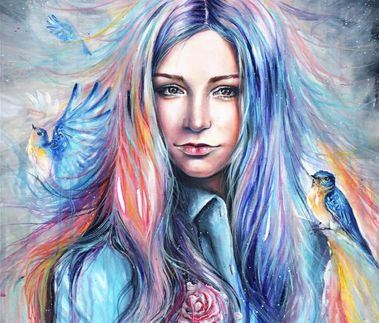 Paeonia Anomala acryl painting by Tanya Shatseva