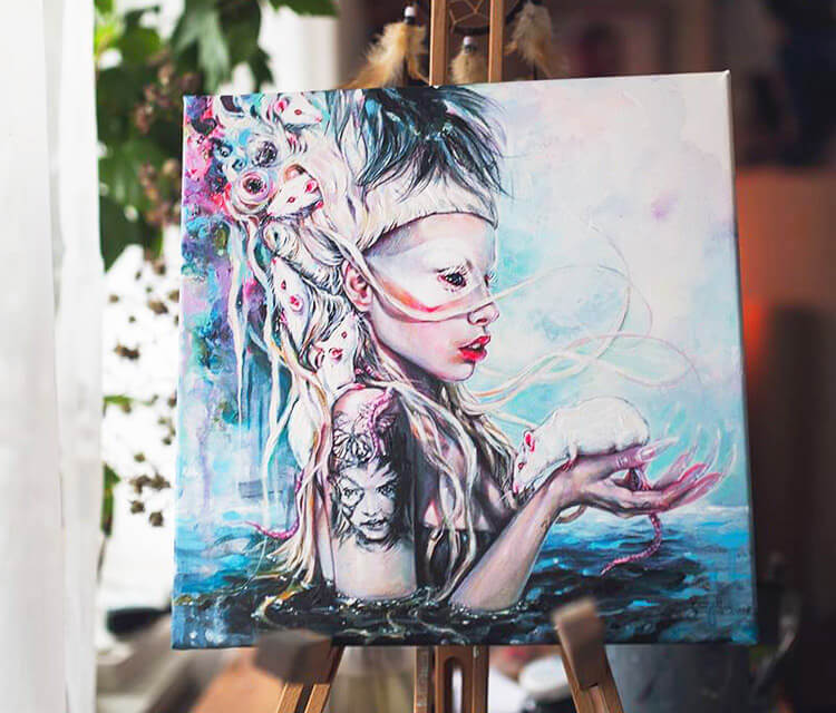 Yolandi The Rat Mistress painting by Tanya Shatseva