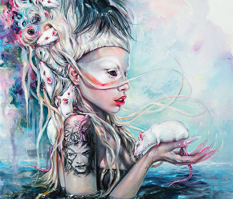 Yolandi The Rat Mistress detail painting by Tanya Shatseva
