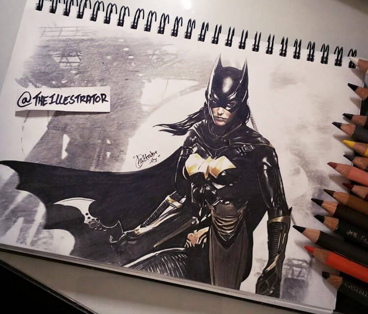 Batgirl pencil drawing by The Illestrator