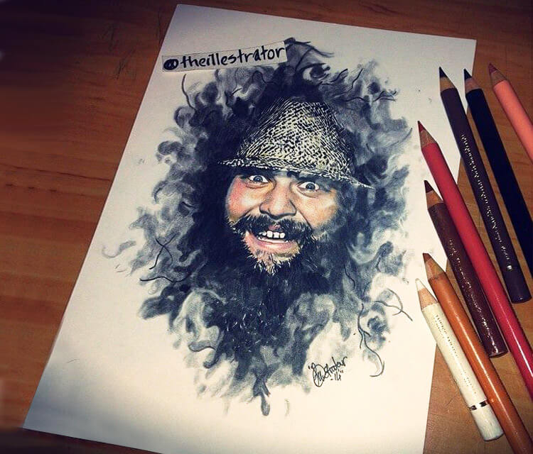 Bray Wyatt portrait drawing by The Illestrator