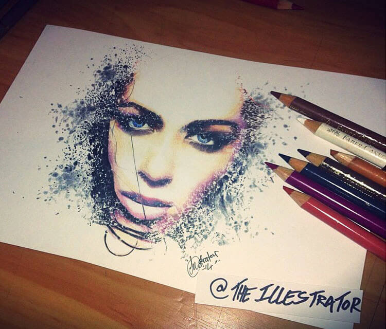 Daniela Dib color drawing by The Illestrator