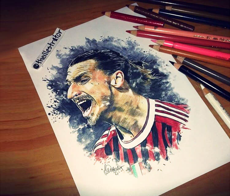 Dare to Zlatan Ibrahimovic drawing by The Illestrator