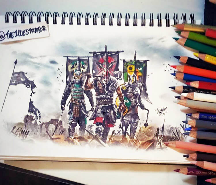 For Honor color drawing by The Illestrator