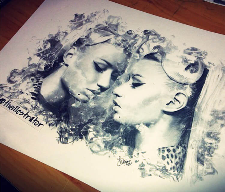 Iggy Azalea drawing by The Illestrator