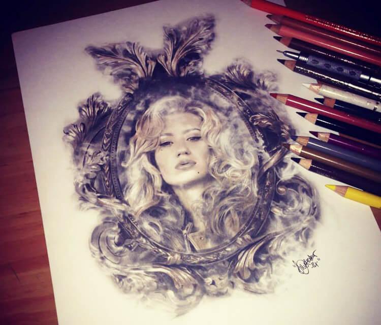 Iggy Azelea drawing by The Illestrator