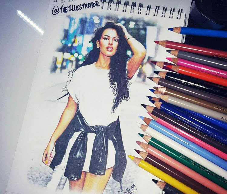 Jade Testa color drawing by The Illestrator