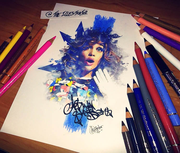 Jasmine Sanders by The Illestrator