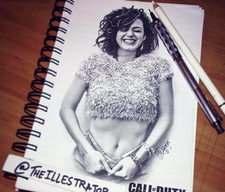 Katy Perry sketch drawing by The Illestrator
