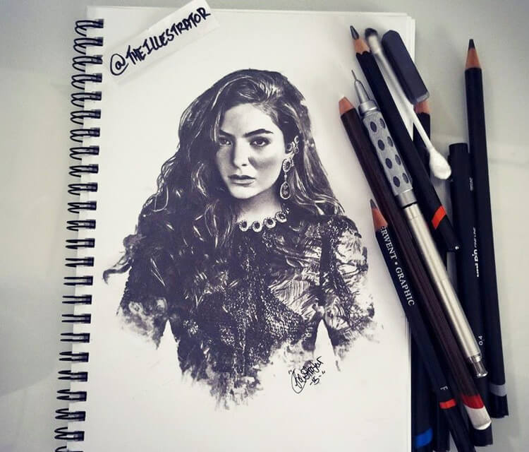 Lorde Music drawing by The Illestrator