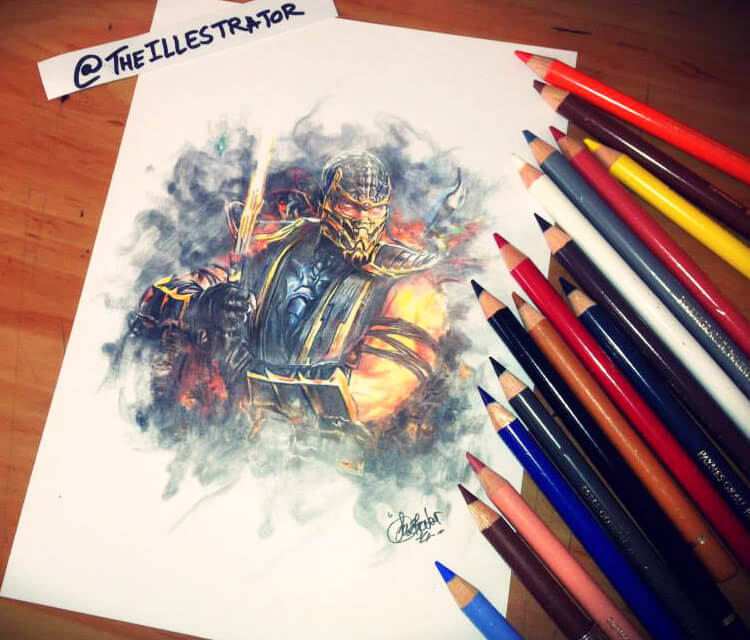 Scorpion color drawing by The Illestrator