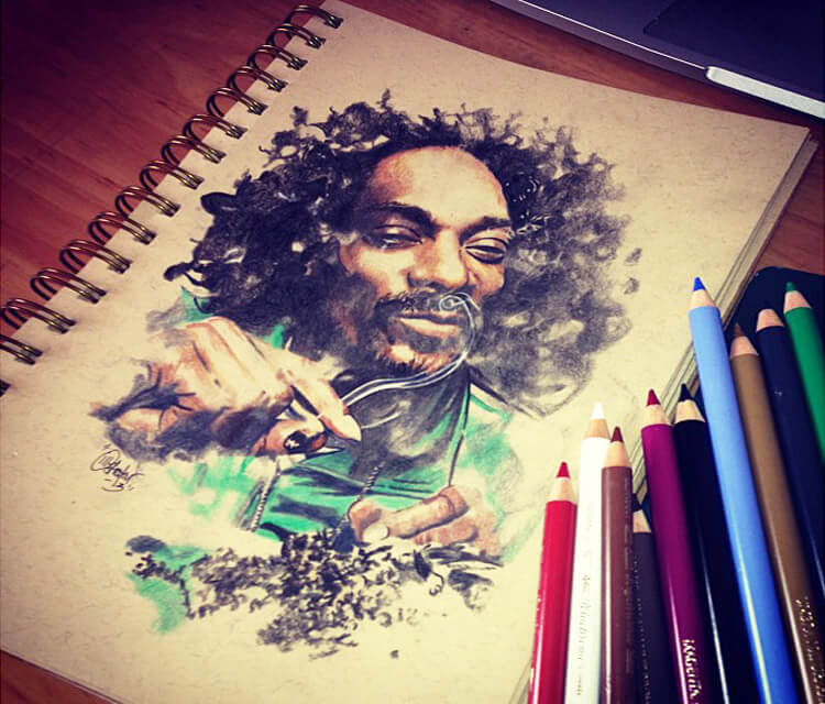 Snoop Dogg sketch drawing by The Illestrator