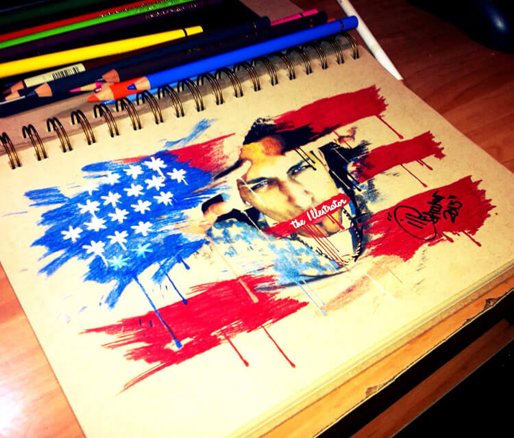 To all my American drawing by The Illestrator