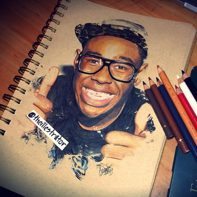 Tyler portrait drawing by The Illestrator