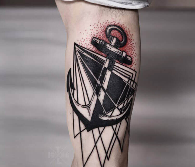 Anchor hand tattoo by Timur Lysenko