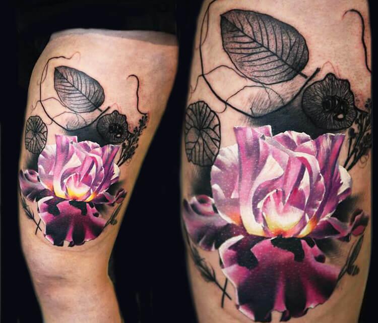 Flower tattoo by Timur Lysenko