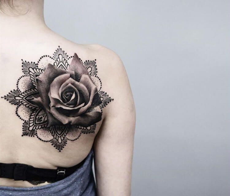 Mandala Rose Tattoo By Timur Lysenko