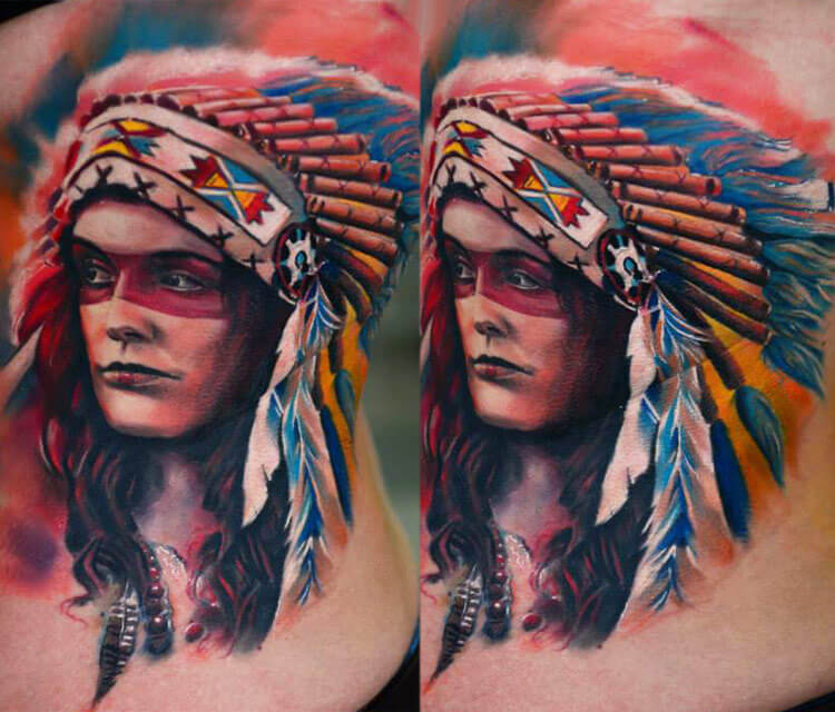 Squaw tattoo by Timur Lysenko