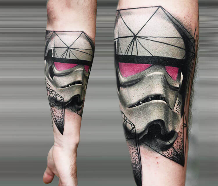Star wars Stormtrooper tattoo by Timur Lysenko