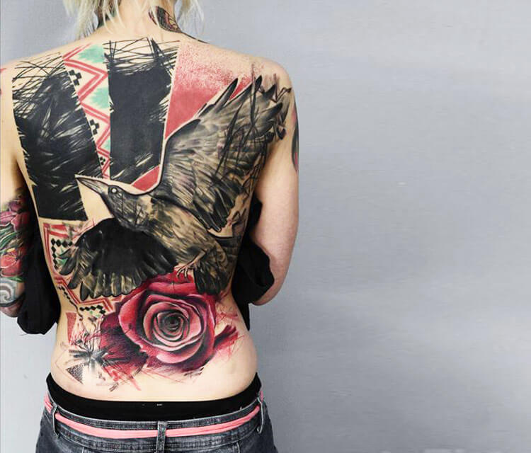 Trash back tattoo by Timur Lysenko