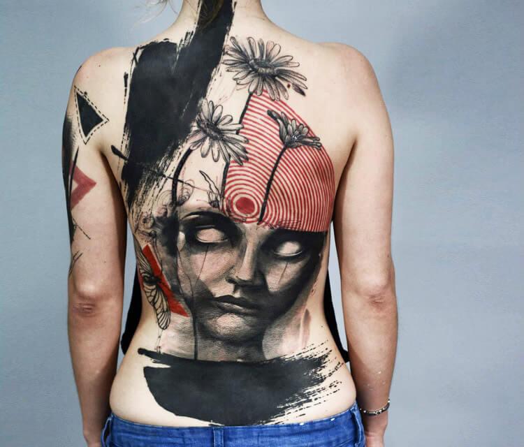 Trash face tattoo by Timur Lysenko