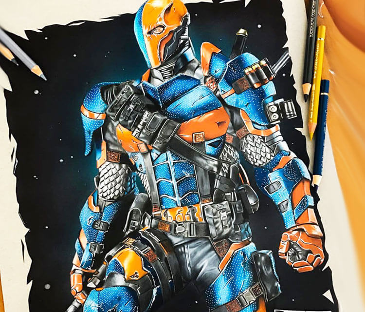 Deathstroke drawing by Tom Chanth Art