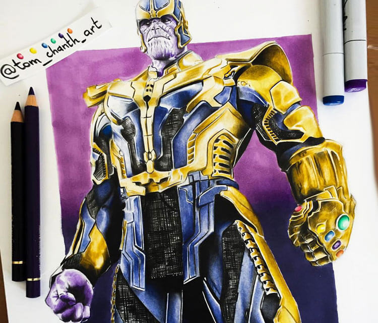 The Mad Titan pencil drawing by Tom Chanth Art