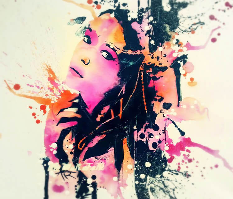 Abstract portrait by Tony Ronnebeck