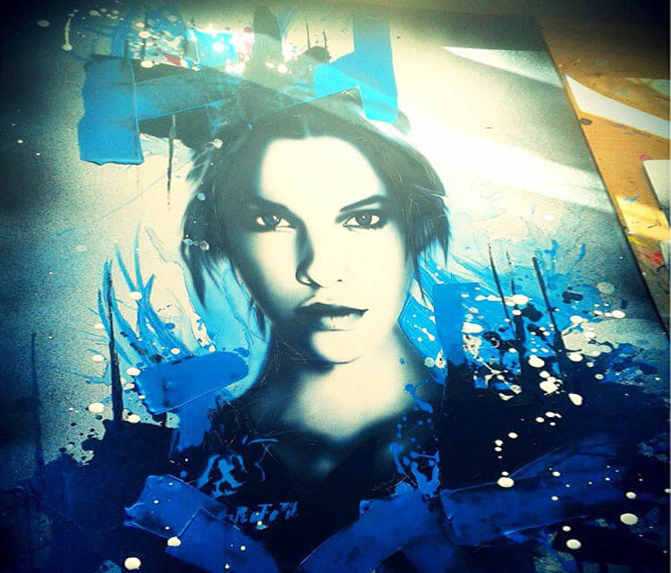 Barbara Palvin mixedmedia by Tony Ronnebeck