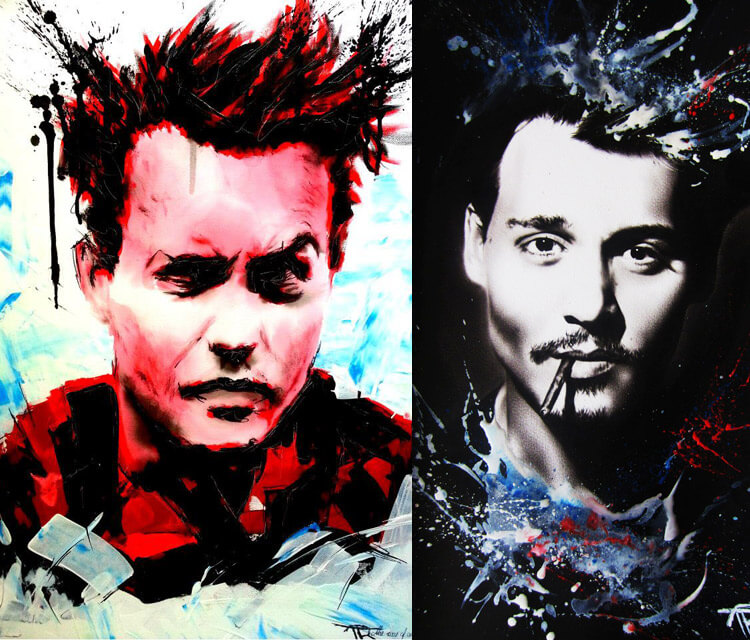 Abstract portrait of Johnny Depp by Tony Ronnebeck