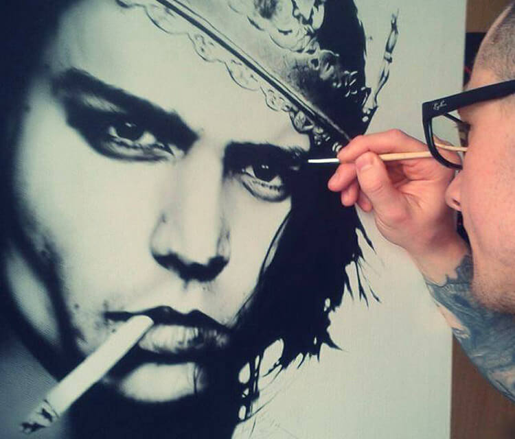Portrait of Johnny Depp by Tony Ronnebeck