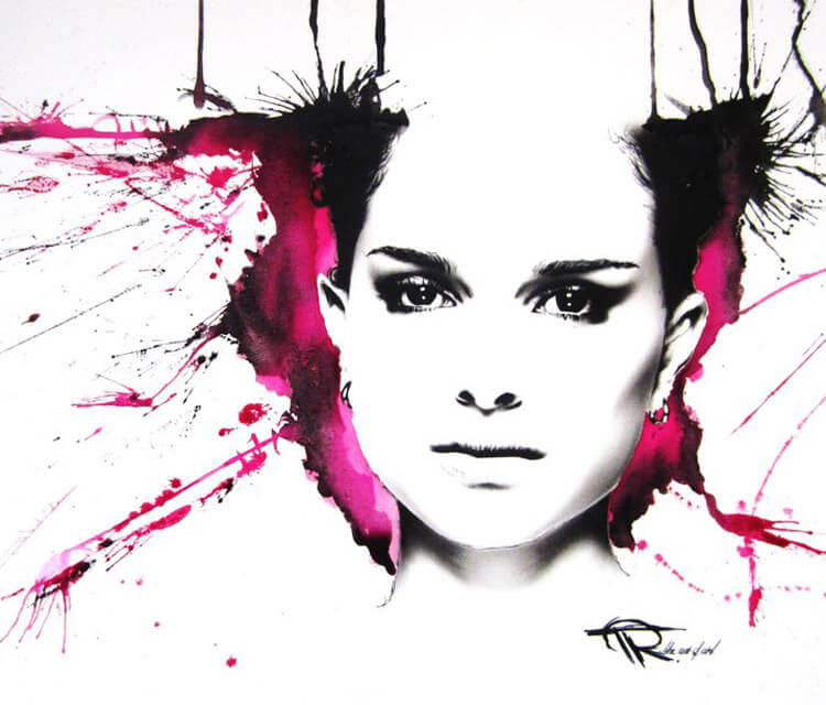 Natalie Portman painting by Tony Ronnebeck