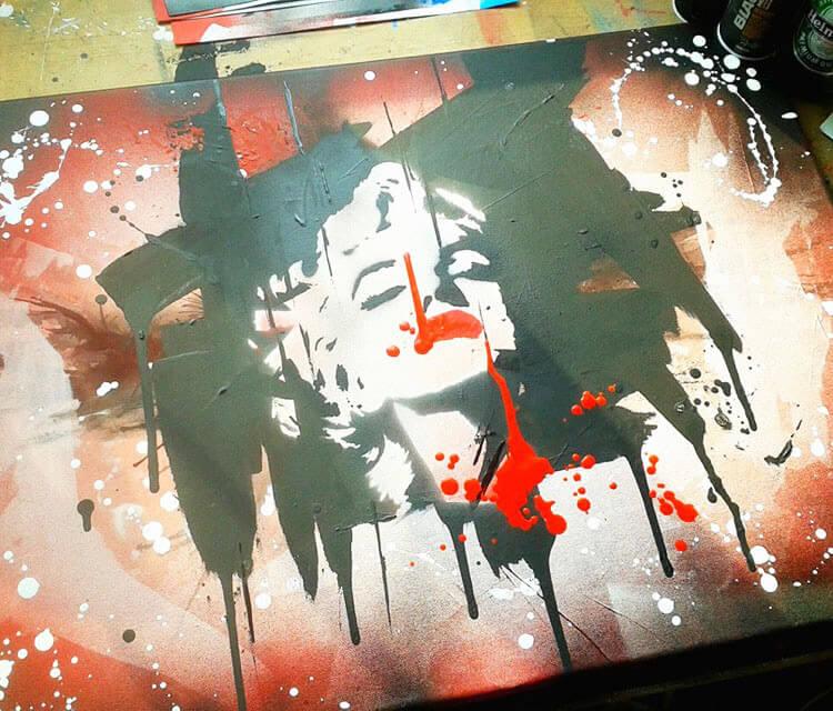 Taste of Blood mixedmedia by Tony Ronnebeck