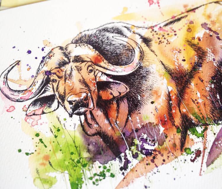 Buffalo by Tori Ratcliffe Art