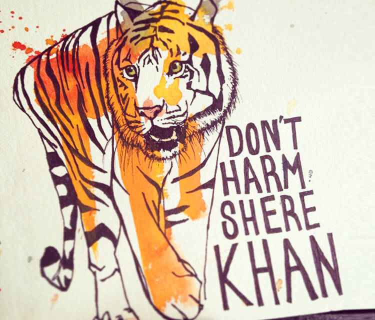 Dont Harm Shere Khan by Tori Ratcliffe Art