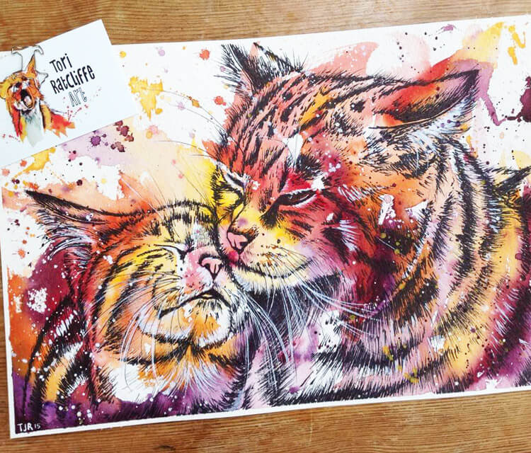 Feline Love by Tori Ratcliffe Art