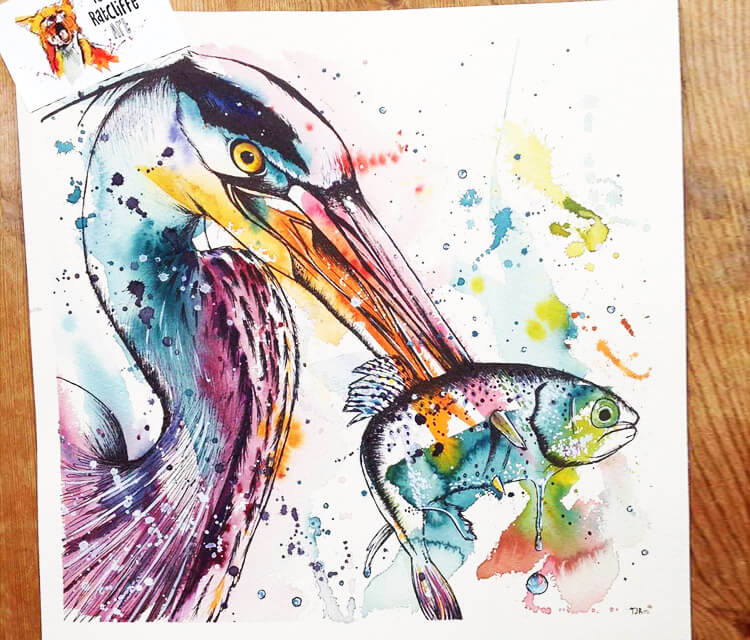 Hungry Bird by Tori Ratcliffe Art